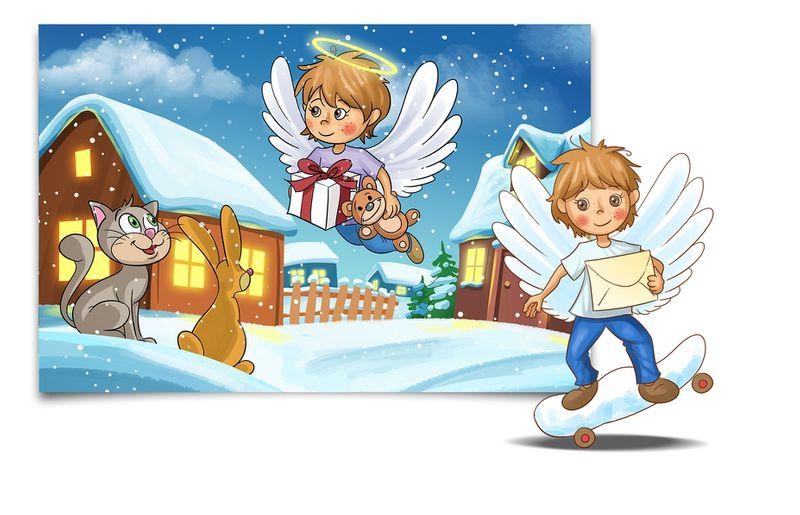 Post für Kinder Slider Christkind