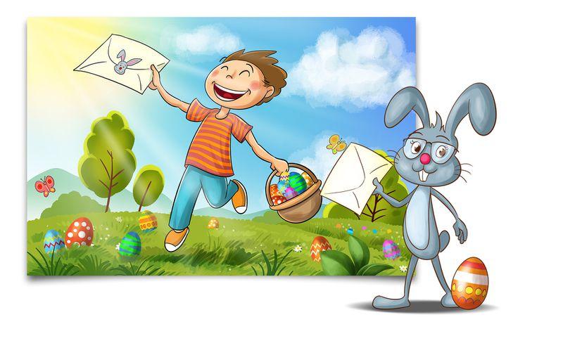 Post für Kinder Slider Osterhase