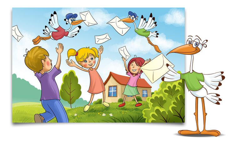 Post für Kinder Slider Strorch